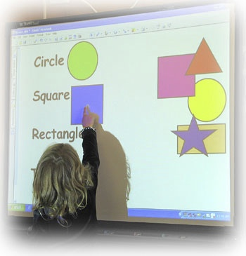 13. Child on SMARTboard